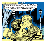 Marvel Comics Retro: Love Comic Panel, Kissing in the Park
