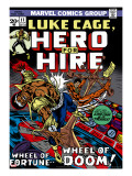 Marvel Comics Retro: Luke Cage, Hero for Hire Comic Book Cover No.11, Wheel of Fortune and Doom