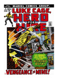 Marvel Comics Retro: Luke Cage, Hero for Hire Comic Book Cover No.2, Smashing Wall