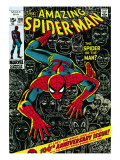 Marvel Comics Retro: The Amazing Spider-Man Comic Book Cover #100, 100th Anniversary Issue