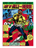 Marvel Comics Retro: Luke Cage, Hero for Hire Comic Panel, Screaming