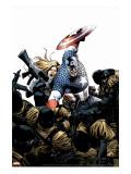 Captain America No.3 Cover: Captain America, Carter and Sharon