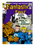 Marvel Comics Retro: Fantastic Four Family Comic Book Cover #45, Among Us Hide? the Inhumans!