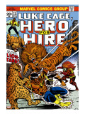 Marvel Comics Retro: Luke Cage, Hero for Hire Comic Book Cover No.13, Fighting Lion-fang, Wild Cats