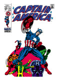 Marvel Comics Retro: Captain America Comic Book Cover #111, with Hydra and Bucky