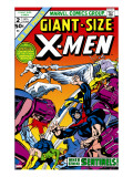 Giant-Size X-Men No.2 Cover: Sentinel, Cyclops, Iceman, Angel and Beast