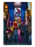 Ultimate Spider-Man Annual No.3 Cover: Spider-Man, Peter Parker, and Mary Jane Watson