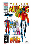 New Mutants No.99 Cover: Cable, Sunspot, Warpath, Cannonball, Domino, Boom Boom and New Mutants