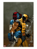 Wolverine No.62 Cover: Wolverine and Mystique