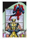 Marvel Holiday Special 2007 No.1 Cover: Spider-Man and Wolverine