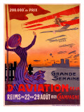 French Aviation Week Air Show Poster Art Print