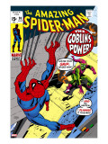 The Amazing Spider-Man No.98 Cover: Green Goblin and Spider-Man Fighting