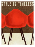 Style is Timeless Midcentury Chairs Art Print