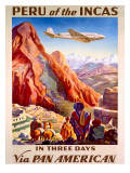 Pan American Peru of the Incas Poster Art Print