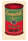 Campbell's Soup Can, 1965 (Green and Red) Art Print
