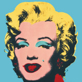 Marilyn, 1967 (On Blue) Art Print