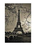 Curves of Eiffel Art Print