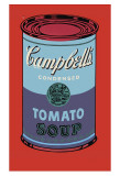 Campbell's Soup Can, 1965 (Blue and Purple) Art Print