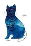 25 Cats Named Sam and One Blue Pussy by Andy Warhol, c.1954 (Blue Sam) Art Print