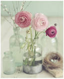 Blooming Bottles Art Print