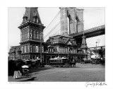 Fulton Ferry and Brooklyn Bridge, c.1885