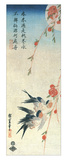 Swallows and Peach Blossoms under a Full Moon