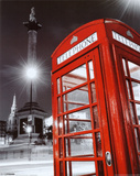 Red Telephone Box - Trafalgar Square Mini Poster