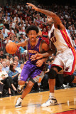 Phoenix Suns v Miami Heat: Josh Childress and Udonis Haslem