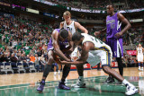 Sacramento Kings v Utah Jazz: Paul Millsap and Donte Greene