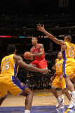 Chicago Bulls v Los Angeles Lakers: Derrick Rose, Ron Artest, Derek Fisher and Shannon Brown