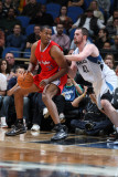 Los Angeles Clippers v Minnesota Timberwolves: Jarron Collins and Kevin Love