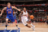 New York Knicks v Los Angeles Clippers: Eric Bledsoe and Timofey Mozgov