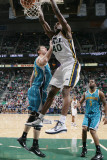 New Orleans Hornets v Utah Jazz: Jeremy Evans and Jason Smith