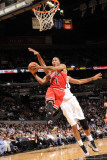 Chicago Bulls v San Antonio Spurs: Derrick Rose and Tim Duncan Photographic Print