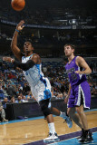 Sacramento Kings v New Orleans Hornets: Chris Paul and Beno Udrih