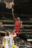 Toronto Raptors v Indiana Pacers: Amir Johnson and Mike Dunleavy