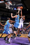 New Orleans Hornets v Sacramento Kings: Carl Landry and Jason Smith