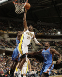 Oklahoma City Thunder v Indiana Pacers: Roy Hibbert and Serge Ibaka