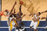 Charlotte Bobcats v Indiana Pacers: Stephen Jackson and Solomon Jones