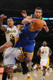 Golden State Warriors v Los Angeles Lakers: Vladimir Radmanovic and Matt Barnes