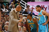 New Orleans Hornets v Utah Jazz: Monty Williams, Marcus Thornton and Willie Green