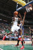 Indiana Pacers v Utah Jazz: Paul Millsap and Josh McRoberts