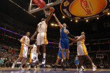 Golden State Warriors v Los Angeles Lakers: Lamar Odom and Vladimir Radmanovic