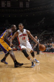 Los Angeles Lakers v Detroit Pistons: Greg Monroe and Derrick Caracter