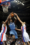 Washington Wizards v Detroit Pistons: Andray Blatche, Jason Maxiell and Tayshaun Prince