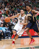 Indiana Pacers v Utah Jazz: Deron Williams and Brandon Rush