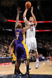 Los Angeles Lakers v New Jersey Nets: Brook Lopez and Lamar Odom