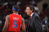 Los Angeles Clippers v Philadelphia 76ers: Vinny Del Negro and Baron Davis