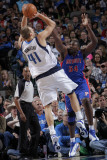 Detroit Pistons v Dallas Mavericks: Dirk Nowitzki and Jason Maxiell