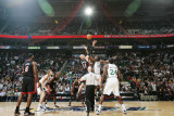 Miami Heat v Utah Jazz: Al Jefferson and Zydrunas Ilgauskas